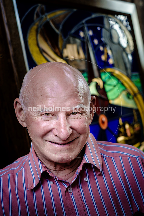 Holy Trinity Church, Hull, East Yorkshire, United Kingdom, 11 June, 2014. Pictured: Hull Trawler Skipper Ken Knox with lost trawler mans memorials