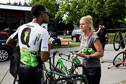 Amanuel Werkilul Gebreigzabhier of Dimension Data one day prior to the 25th Tour de Slovenie 2018 cycling race, on June 12, 2018 in Hotel Livada, Moravske Toplice, Slovenia. Photo by Vid Ponikvar / Sportida
