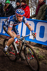 Francis MOUREY (20,FRA), 5th lap at Men UCI CX World Championships - Hoogerheide, The Netherlands - 2nd February 2014 - Photo by Pim Nijland / Peloton Photos