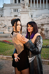 Asia Argento special guest. Performance of the actress dedicated to the exhibition of the tattoo artist Marco Manzo at the Vittoriano museum in Rome. in the photo Asia Argento