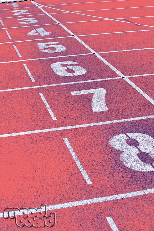 Photo of red stadium tracks