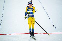 March 9, 2019 - –Stersund, Sweden - 190309 Peppe Femling of Sweden crosses the finish line in the Men's 10 KM sprint during the IBU World Championships Biathlon on March 9, 2019 in Östersund..Photo: Johan Axelsson / BILDBYRÃ…N / Cop 245 (Credit Image: © Johan Axelsson/Bildbyran via ZUMA Press)
