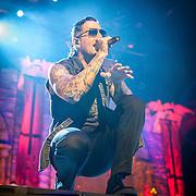Avenge Sevenfold performing at Mayhem Festival in Bristow, VA on August 3, 2014.