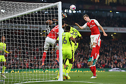 25 October 2016 - EFL Cup - 4th Round - Arsenal v Reading - A scramble for the ball in the Reading goalmouth - Photo: Marc Atkins / Offside.