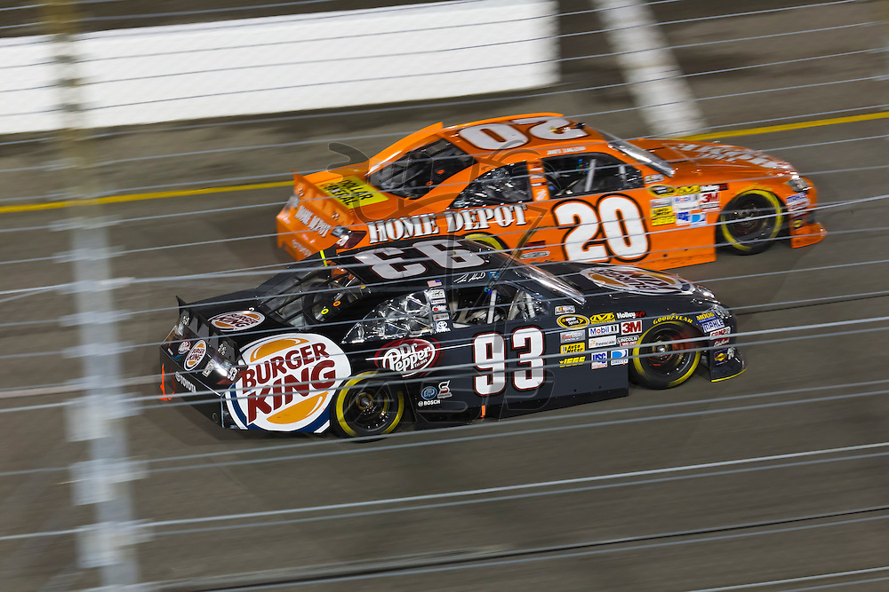 RICHMOND, VA - APR 28, 2012:  The NASCAR Sprint Cup teams take to the track for the Capital City 400 Presented by Virginia Is For Lovers at the Richmond International Raceway in Richmond, VA.