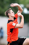 Joe Mennie of Perth Scorchers during the Perth Scorchers Training Session held at the Sawai Mansingh Stadium in Jaipur on the 28th September 2013<br /> <br /> Photo by Shaun Roy-CLT20-SPORTZPICS <br /> <br /> Use of this image is subject to the terms and conditions as outlined by the CLT20. These terms can be found by following this link:<br /> <br /> http://sportzpics.photoshelter.com/image/I0000NmDchxxGVv4