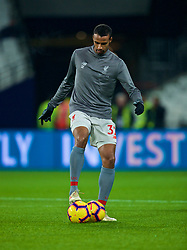 LONDON, ENGLAND - Monday, February 4, 2019: Liverpool's Joel Matip during the pre-match warm-up before the FA Premier League match between West Ham United FC and Liverpool FC at the London Stadium. (Pic by David Rawcliffe/Propaganda)