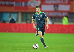 VIENNA, AUSTRIA - Thursday, October 6, 2016: Wales' Ben Davies in action against Austria during the 2018 FIFA World Cup Qualifying Group D match at the Ernst-Happel-Stadion. (Pic by David Rawcliffe/Propaganda)