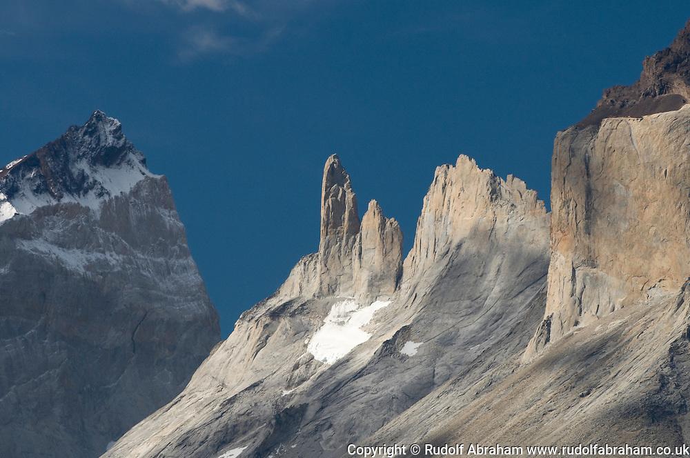 Cerro Fortaleza and Cerro Espada ('the spear'), Torres del Paine national park, Patagonia, Chile