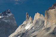 Cerro Fortaleza and Cerro Espada ('the spear'), Torres del Paine national park, Patagonia, Chile