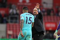 Football - 2018 / 2019 Premier League - Southampton vs. Newcastle United<br /> <br /> Newcastle United Manager Rafael Benitez waves to the traveling fans at St Mary's Stadium Southampton<br /> <br /> COLORSPORT/SHAUN BOGGUST