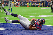 HOUSTON, TX - OCTOBER 30: Houston Texans Tight End C.J. Fiedorowicz (87) makes a first half touchdown catch during the NFL football game between the Detroit Lions and Houston Texans on October 30, 2016 at NRG Stadium in Houston, TX. (Photo by Ken Murray/Icon Sportswire)