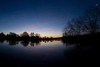 sunrise over river thames