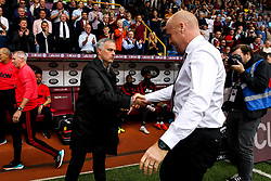 Manchester United manager Jose Mourinho shakes hands with Burnley manager Sean Dyche - Mandatory by-line: Robbie Stephenson/JMP - 02/09/2018 - FOOTBALL - Turf Moor - Burnley, England - Burnley v Manchester United - Premier League