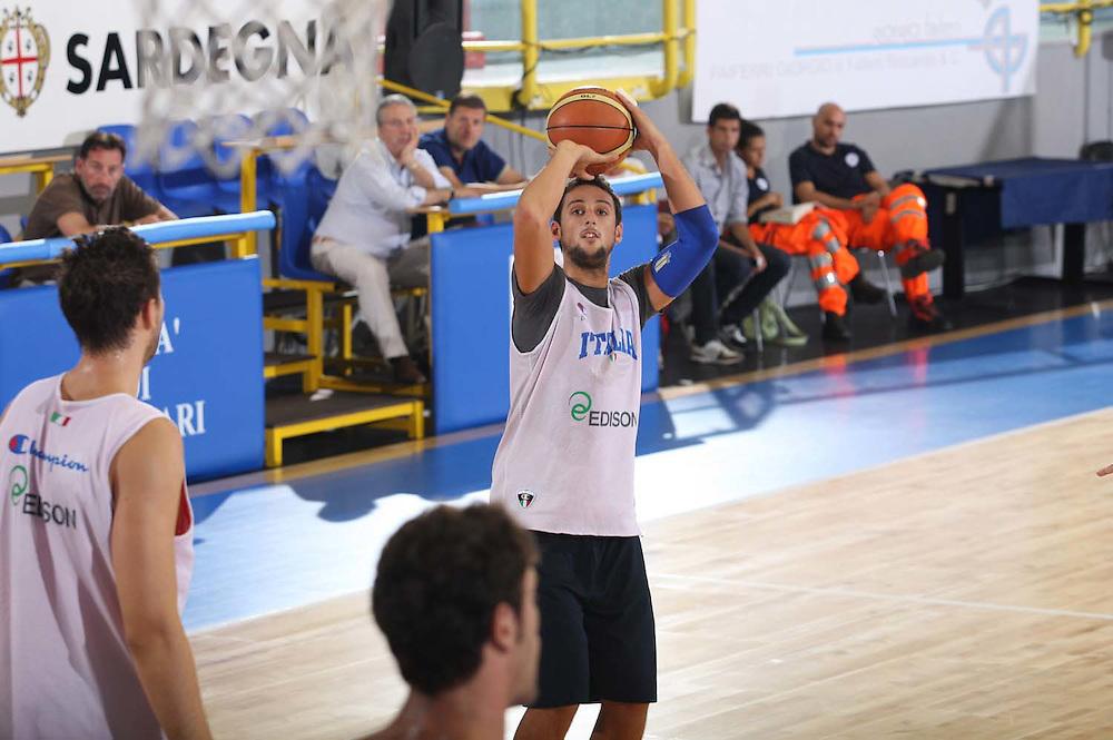 Cagliari, 04/08/2009<br /> Allenamenti Nazionale Italiana Maschile Senior<br /> Nella foto: Marco Belinelli<br /> Foto Ciamillo