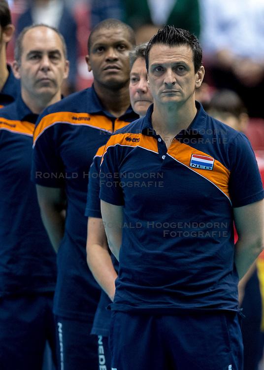 17-05-2016 JAP: OKT Thailand - Nederland, Tokio<br /> Nederland verslaat Thailand met klinkende cijfers 3-0 en is weer op koers voor Rio / Coach Giovanni Guidetti