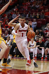27 January 2018:  Elijah Clarance during a College mens basketball game between the Valparaiso Crusaders and Illinois State Redbirds in Redbird Arena, Normal IL