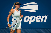 Amanda Anisimova of the United States in action during the first round of the 2018 US Open Grand Slam tennis tournament, at Billie Jean King National Tennis Center in Flushing Meadow, New York, USA, August 28th 2018, Photo Rob Prange / SpainProSportsImages / DPPI / ProSportsImages / DPPI