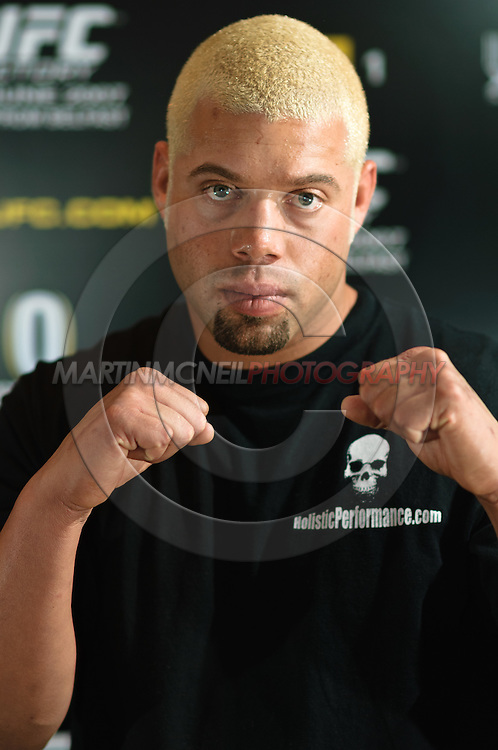 "A portrait of mixed martial arts athlete Eddie ""The Manic Hispanic"" Sanchez"