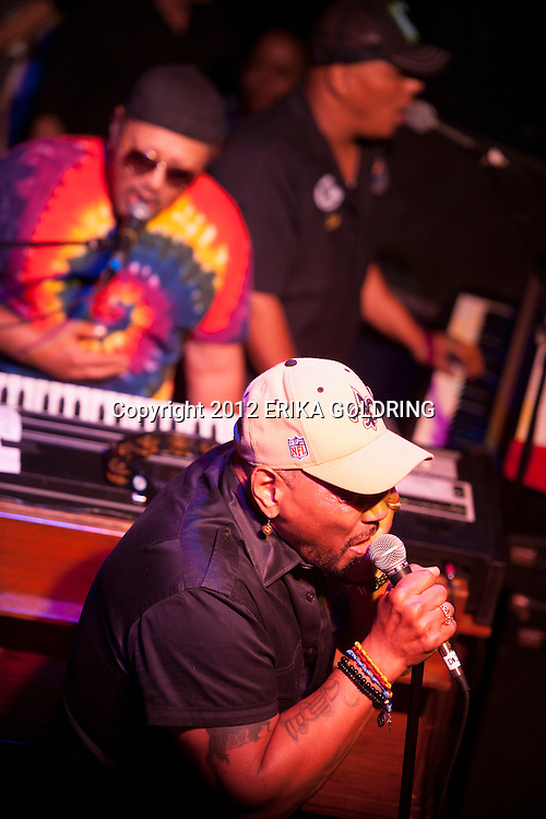 NEW ORLEANS, LA - MAY 06:  Art Neville (top left) and Aaron Neville (bottom) of The Neville Brothers perform with Ivan Neville (top right) of Ivan Neville's Dumpstaphunk at Tipitina's on May 6, 2012 in New Orleans, Louisiana.  (Photo by Erika Goldring/WireImage)