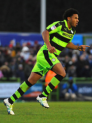 New signing Reuben Reid Forest Green Rovers scores a goal making it 1-0- 06/01/2018 - FOOTBALL - New Lawn Stadium- Nailsworth, England- Forest Green Rovers v Port Vale - Sky Bet League Two