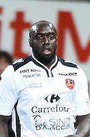 Issiar DIA - 19.09.2015 - Guingamp / Gazelec Ajaccio - 6eme journee Ligue 1<br /> Photo : Nolwenn Le Gouic / Icon Sport