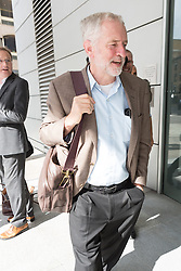 © Licensed to London News Pictures. 01/09/2015. London, UK. Jeremy Corbyn arrives at Channel 4 studios in London today for a Labour leadership debate. Photo credit : Vickie Flores/LNP