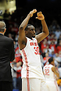DAYTON, OH - MARCH 24: Evan Ravenel #30 of the Ohio State Buckeyes celebrates after defeating the Iowa State Cyclones during the third round of the 2013 NCAA Men's Basketball Tournament at UD Arena on March 24, 2013 in Dayton, Ohio. (Photo by Jason Miller/Getty Images)