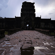Angkor, Siem Reap Province, Cambodia: The temple complex at Angkor Wat was built by King Suryavarman II  in the early 12th century as his state temple and capital city. As the best-preserved temple at the site, it is the only one to have remained a significant religious centre since its beginning, first Hindu, dedicated to the god Vishnu, then Buddhist. The temple is a classical style of Khmer architecture.  Jose More Photography