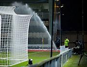 Sprinler goes off during the game  - Scotland under 21s v Estonia international challenge match at St Mirren Park, St Mirren. Pic David Young<br />  <br /> - © David Young - www.davidyoungphoto.co.uk - email: davidyoungphoto@gmail.com