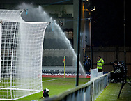 Sprinler goes off during the game  - Scotland under 21s v Estonia international challenge match at St Mirren Park, St Mirren. Pic David Young<br />  <br /> - &copy; David Young - www.davidyoungphoto.co.uk - email: davidyoungphoto@gmail.com