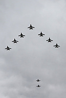 Tornado GR4, RAF100 Parade and Flypast, The Mall & Buckingham Palace, London, UK, 10 July 2018, Photo by Richard Goldschmidt, Royal Air Force Centenary parade and flypast of RAF aircraft over London.