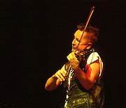 Nigel Kennedy <br /> English violin and viola player, performing with Polish band Kroke at the WOMAD Festival, Reading, England July 2004.