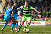 Forest Green Rovers Farrend Rawson(20) on the ball during the EFL Sky Bet League 2 match between Forest Green Rovers and Grimsby Town FC at the New Lawn, Forest Green, United Kingdom on 5 May 2018. Picture by Shane Healey.