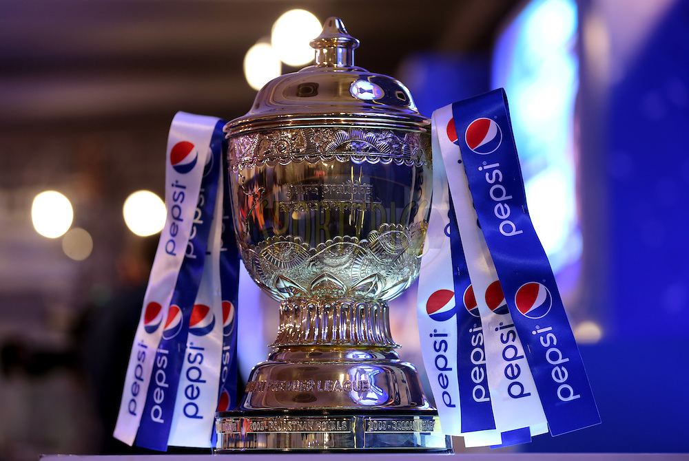 Trophy during the Pepsi IPL Player Auction held at the ITC Gardenia in Bengaluru, India on the 13th February 2014<br /> <br /> Photo by Sandeep Shetty/BCCI/SPORTZPICS