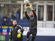 Luton Town goalkeeper James Shea warms up before the game during the EFL Sky Bet League 2 match between Luton Town and Barnet at Kenilworth Road, Luton, England on 24 March 2018. Picture by Ian  Muir.