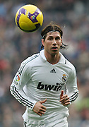 Real Madrid's Sergio Ramos during La Liga match.January 18 2009.