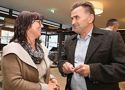 11.11.2016, Lienz, AUT, Einweihung Osttiroler Tourismushaus am Stegergarten, im Bild BGM Erika Rogl, BGM Franz Hopfgartner. EXPA Pictures © 2016, PhotoCredit: EXPA/ Johann Groder