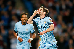 Jose Angel Pozo of Manchester City celebrates scoring a goal to make it 6-0 - Photo mandatory by-line: Rogan Thomson/JMP - 07966 386802 - 24/08/2014 - SPORT - FOOTBALL - Manchester, England - Etihad Stadium - Manchester City v Sheffield Wednesday - Capital One Cup, Third Round.