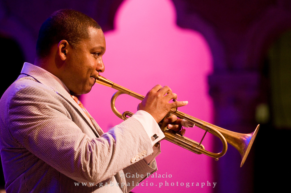 The Wynton Marsalis performing in the Venetian Theater for Jazz Festival at Caramoor  in Katonah, New York on Friday, Aug 1, 2008.