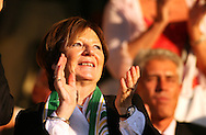 London - Tuesday, August 18th, 2009: Norwich City owner Delia Smith in the stands before the game between Brentford and Norwich City during the Coca Cola League One match at Griffin Park, London. (Pic by Chris Ratcliffe/Focus Images)