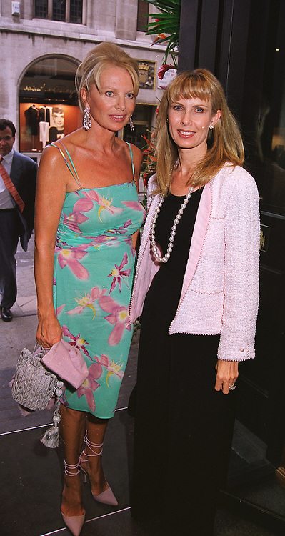 Left to right, MRS EVA-MARIE O'NEILL and MRS ROBERT SANGSTER estranged wife of the race horse owner, at a party in London on 27th May 1999. MSO 28
