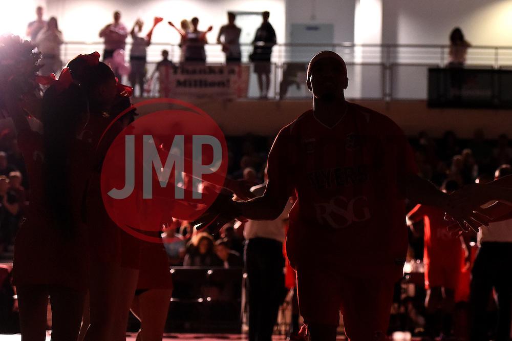 Greg Streete of Bristol Flyers runs out  - Photo mandatory by-line: Joe Meredith/JMP - Mobile: 07966 386802 - 10/10/2015 - BASKETBALL - SGS Wise Arena - Bristol, England - Bristol Flyers v Newcastle Eagles - British Basketball League