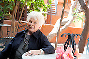 San Miguel de Allende, Mexico: Ex-pat Dotty Vidargas in her real estate/home furnishing office in the historical colonial town of San Miguel Allende, Guanajuato, Mexico (Photo: Ann Summa).