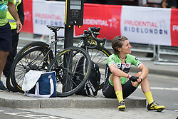 Valentina Scandolara (ITA) of Cylance Pro Cycling was forced to give up the Prudential RideLondon Classique, a 66 km road race in London on July 30, 2016 in the United Kingdom.