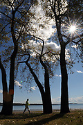 A Long Wharf lunchtime walker on a beautiful late September day in New Haven. Mara Lavitt/New Haven Register<br /> <br /> 9/24/12