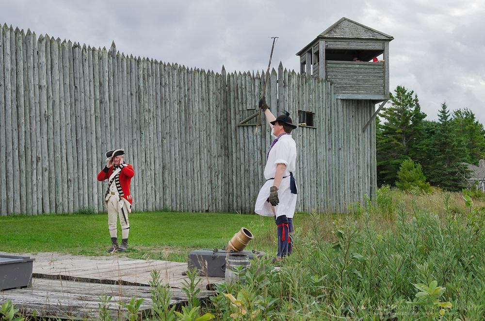 Mortar firing demonstration. Colonial Michilimackinac, Mackinaw City Michigan.