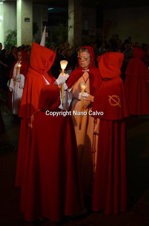 Holy Week parade at night in Puerto de la Cruz, Tenerife