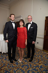 23/10/2015<br /> 10/23/2015<br /> 23 October 2015<br />  Guild of Agricultural Journalists &ndash; Michael Dillon Lecture at the Shelbourne Hotel, Dublin. For Farmer's Journal. <br /> At the event were (l-r): Brian Cleere; Jeanne Kelly and Damien O'Reilly.