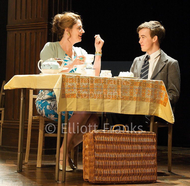 South Downs and The Browning Version <br /> at The Harold Pinter Theatre, London, Great Britain <br /> press photocall<br /> 24th April 2012 <br /> <br /> The Browing Version <br /> <br /> Anna Chancellor (as Millie Crocker-Harris)<br /> Mark Umbers (as Frank Hunter)<br /> Nicholas Farrell (as Andrew Crocker-Harris)<br /> Liam Morton (as John Taplow)<br /> Andrew Woodall (as Dr Frobisher)<br /> <br /> <br /> South Downs<br /> <br /> Anna Chancellor (as Belinda Duffield)<br /> Nicholas Farrell (as Rev Eric Dewley)<br /> Alex Lawther (as John Blakemore)<br /> Bradley Hall (as Colin Jenkins)<br /> Liam Morton (as Roger Sprule)<br /> Tom Spink (as Tommy Gunter)<br /> Jonathan Bailey (as Jeremy Duffield)<br /> <br /> <br /> <br /> Photograph by Elliott Franks